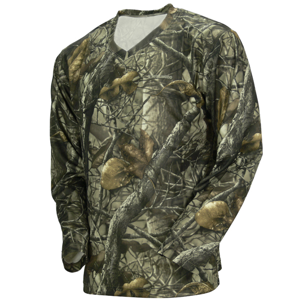 Tecl wood long sleeve camo fishing t shirt camo clothing for Camo fishing shirt